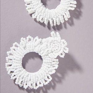 Anthropologie Macie Beaded Hoop Earrings